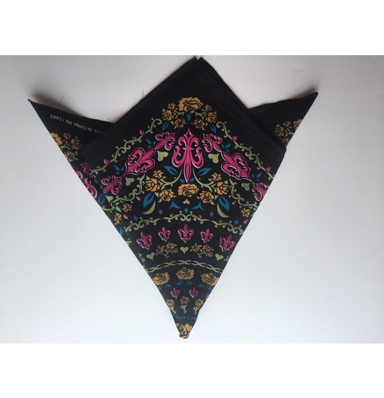 Black Flower Bandana