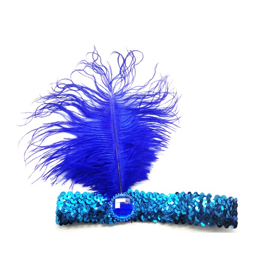 Flapper Headband Blue
