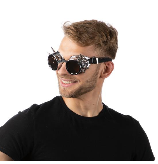 Silver Spike Retro Goggles
