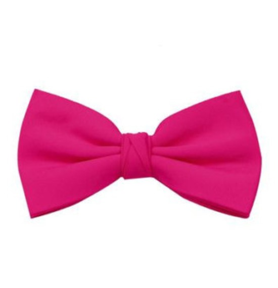 Bright Pink Bow Tie