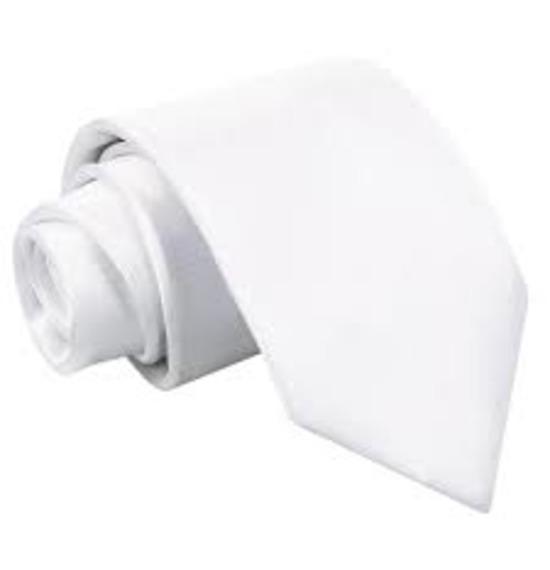White Long Tie