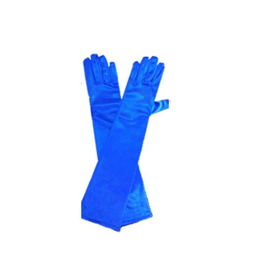 Blue Long Gloves