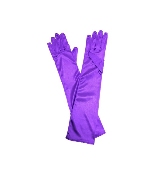 Purple Long Gloves