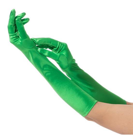 Green Long Gloves