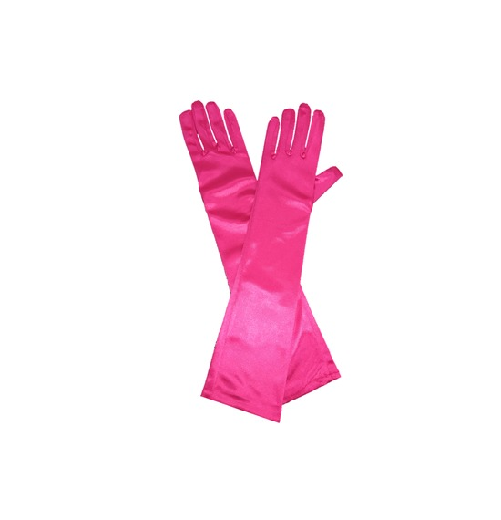 Bright Pink Long Gloves