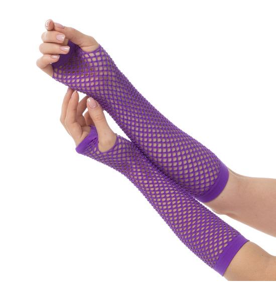 80's Purple Gloves
