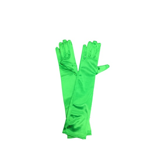 Green Long Gloves
