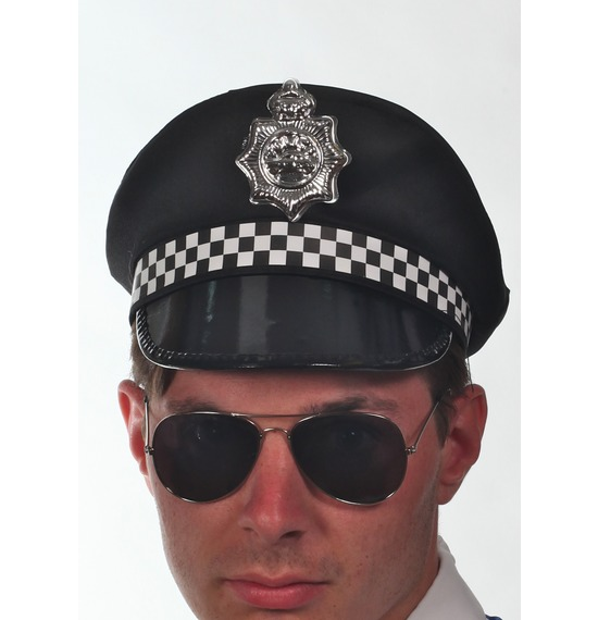 Black UK Police Hat