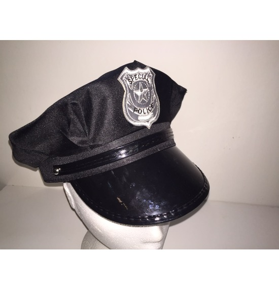 Black Special Police Hat