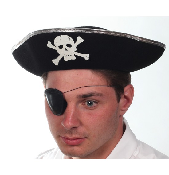 Silver Trim Pirate Hat