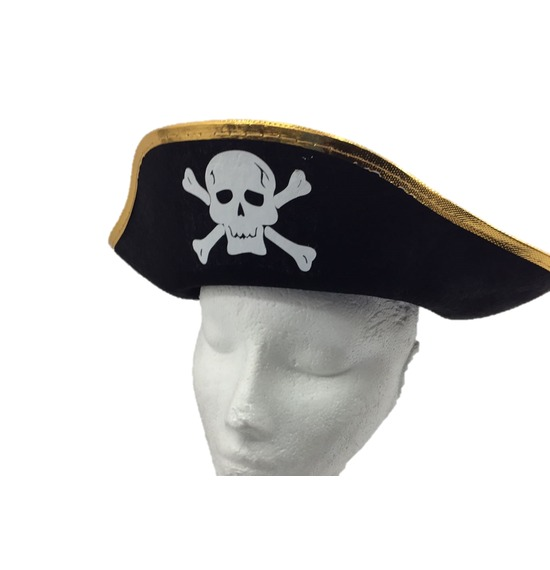 Gold Trim Pirate Hat