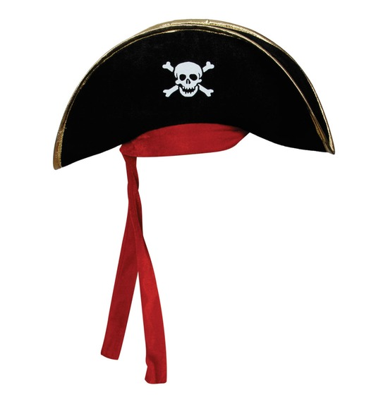 Red Ribbon Pirate Hat