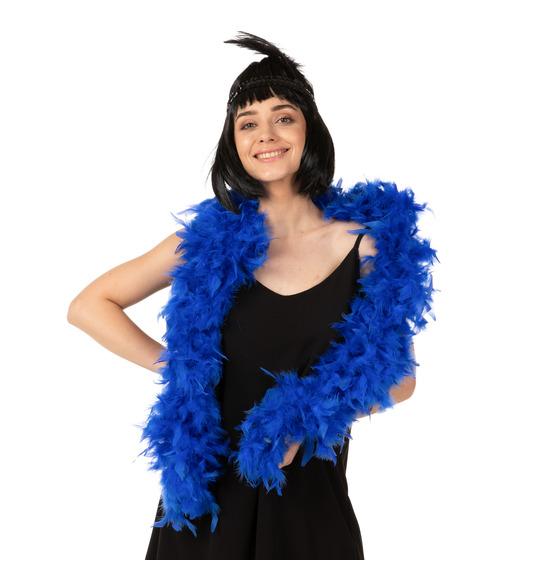 Luxury Feather Boa  Blue