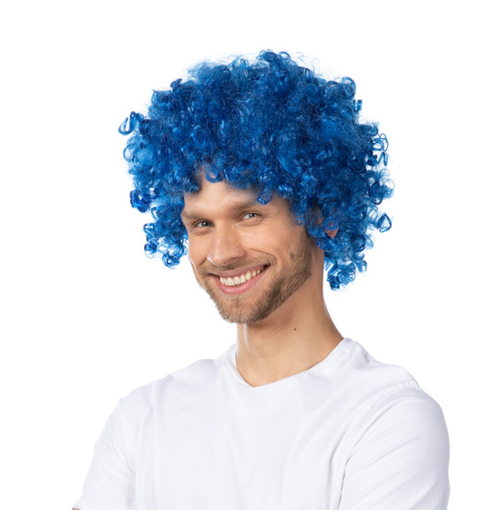 Blue Afro Wig