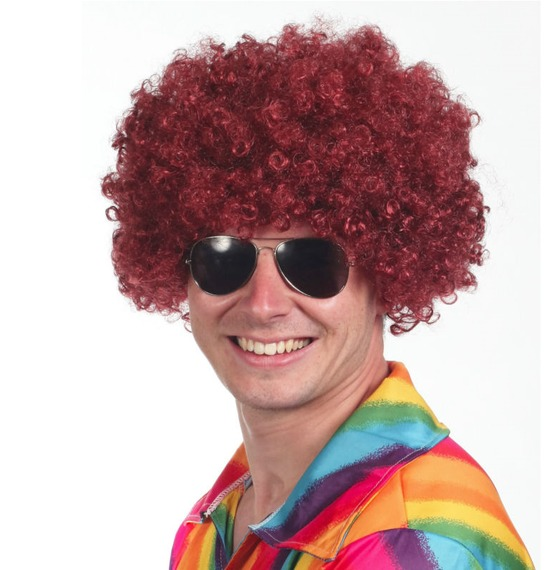 Burgundy Afro Wig