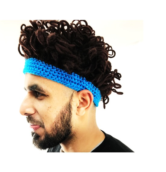 Afro Hat Blue