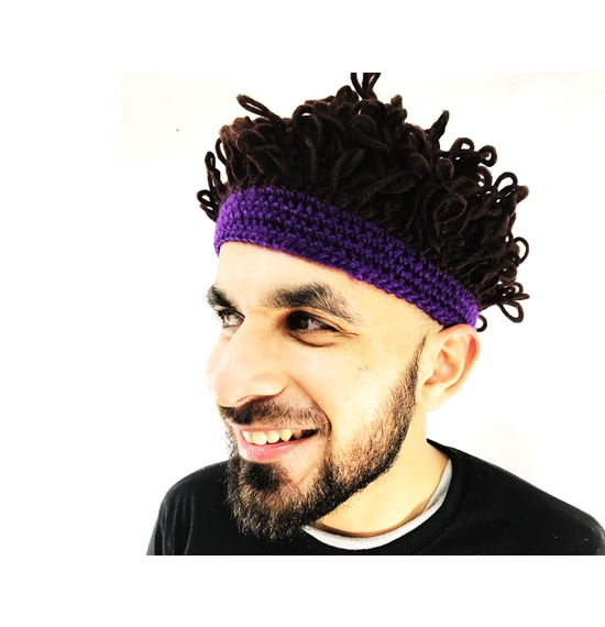 Afro Hat Purple