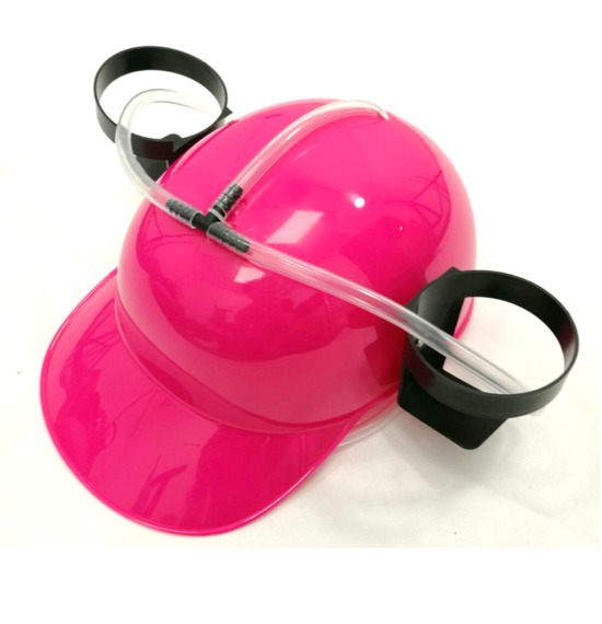 Bright Pink Drinking Hat