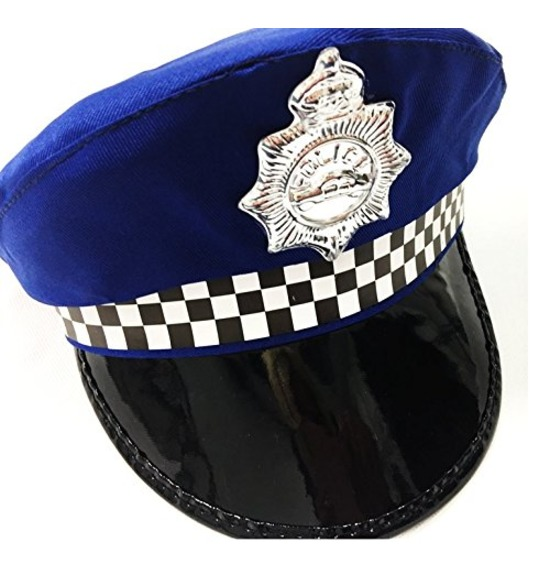 Blue UK Police Hat