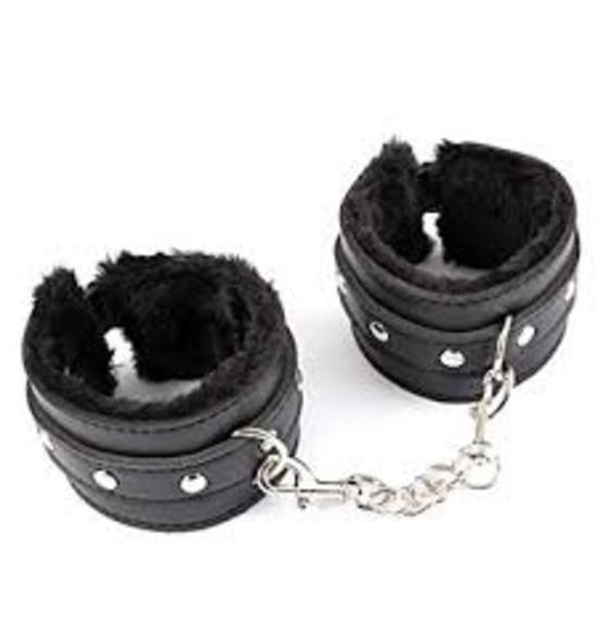 Black Bondage Handcuffs
