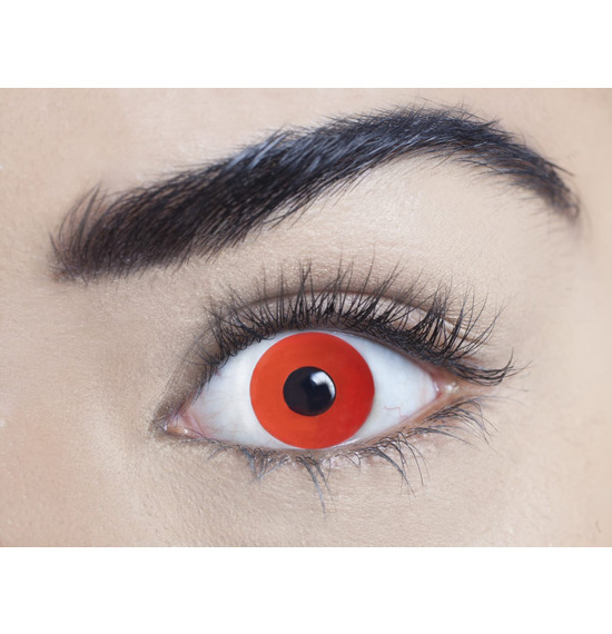 Mesmereyez Mini Sclera Red Contact Lenses