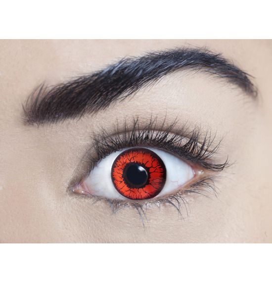 Mesmereyez Mini Sclera Red Rage Contact Lenses