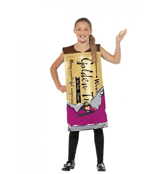Roald Dahl Winning Wonka Bar Costume by Smiffys