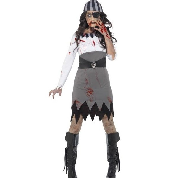 Zombie Pirate Lady Costume by Smiffys