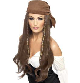 Smiffys Brown Pirate Wig