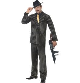 Smiffys Gold Pinstripe Gangster Costume