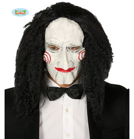 Puppet With Hair Latex Mask
