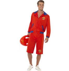 Smiffys Baywatch Beach Men's Lifeguard Costume