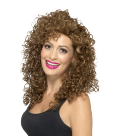 Smiffys Boogie Babe Wig, Brown