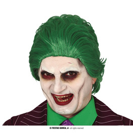 Scary Green Jester Wig