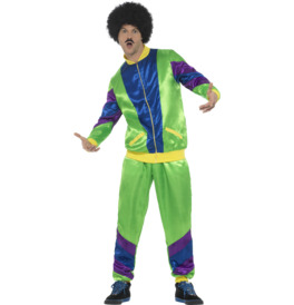 Smiffys 80s Height of Fashion Shell Suit Costume, Green