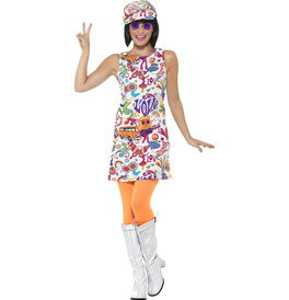 Smiffys 60s Groovy Chick Costume