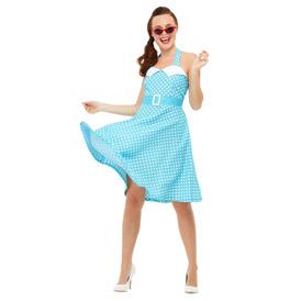 Smiffys 50s Pin Up Costume, Blue
