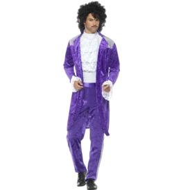Smiffys 80s Purple Musician Costume