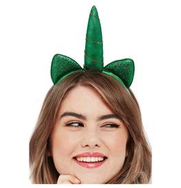 Paddy's Day Metallic Unicorn Headband
