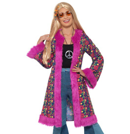 Smiffys 60s Psychedelic Hippie Coat