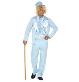 Smiffys 90s Stupid Tuxedo Costume, Blue