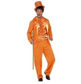 Smiffys 90s Stupid Tuxedo Costume, Orange