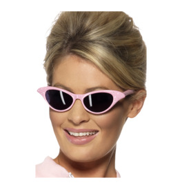 Flyaway Style Rock and Roll Sunglasses, Pink