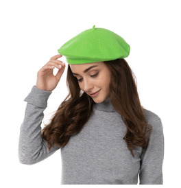 Stylex Party Beret Hat, Green