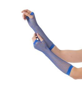 Fishnet Gloves, Blue