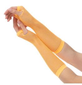 Fishnet Gloves, Orange