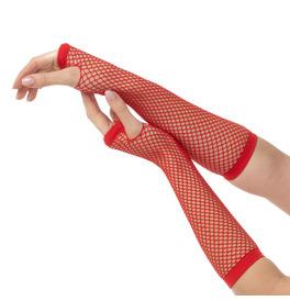 Fishnet Gloves, Red