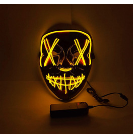 LED Stitches Mask, Yellow