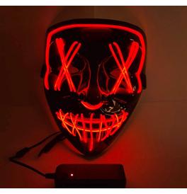 LED Stitches Mask, Red