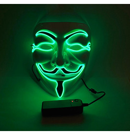 Anonymous LED Mask, Green